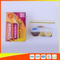 Buy cheap Resealable Ziplock Snack Bags Antifouling Printed , Clear Plastic Snack Bags product