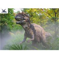 Buy cheap Decorative Animatronic Outdoor Dinosaur Statues Realistic Spraying Smoke Dinosaur Models from wholesalers