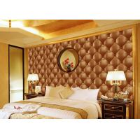 Buy cheap Concise Diamond Printing Inmitation Leather Wall Coverings Moisture Resistant product