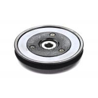 Buy cheap Black Flanged Pulley Guide With Ceramic Coating / Bearing Wire Guide product