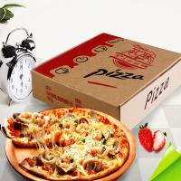 China Custom Brown Kraft Corrugated Pizza Boxes wholesale