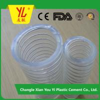Buy cheap high quality steel wire reinforced spring hose suction pvc hose product