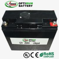 Buy cheap Electric Toy Solar-Charged Battery Pack 12v 20a Li-Ion Phosphate Battery product