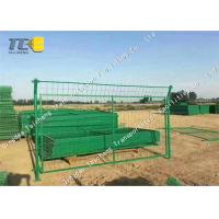 Buy cheap Cold Galvanized Iron Barbed Wire Mesh Chain Link Fence For Railway / Highway product