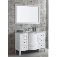 Buy cheap 48′′ Bathroom Vanity Cabinets Furniture Floor Mounted with White Glossy Finish product