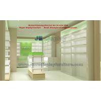 Buy cheap Panel Furniture for Pharmacy Store Display racks with Glass Showcase and Counters for in Led light with product