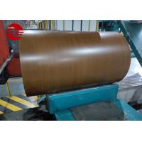 0.12mm - 3.0mm Thickness Wood Grain Ppgi Coil Sheet / Prepainted Galvanized Steel Coil for sale