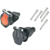 Buy cheap 24v 5 Pole ABS Trailer Plug Socket Crimp Type ISO7638 Certification product