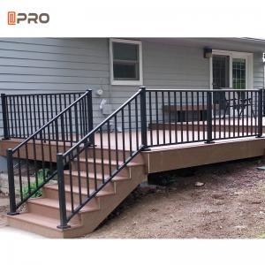Buy cheap Black Garden Aluminum Balustrades Fencing Aluminium Stair Handrail product
