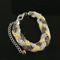 Buy cheap Fashionable Bracelet with 7cm Diameter, Handmade, Made of Metal and Plastic product