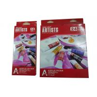 Buy cheap Free Combination Color Art Painting Colours Acrylic Color Set 12 X 12ml / 24 X 12ml Tubes product