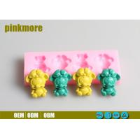 China Food Safe Custom Silicone Cake Molds Mickey Mouse 4 Cavities Tasteless wholesale