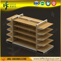 China High end and special design 5 layers heavy duty wood material display shelf for retail sto on sale