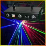 Three lens 700mW X-3 RGB Full Color Laser Light Pro Stage Lighting DJ Party
