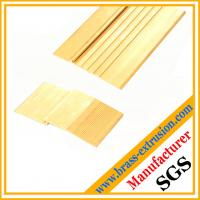China Floor and stairs nosing stair edging trim of extrusion profiles brass threshold covers brass tees on sale