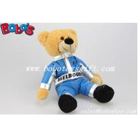 """Buy cheap 10"""" Customized Brown Teddy Bear With Blue Joined Bodies Vehicle Race Clothing product"""