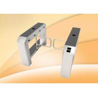 Buy cheap single lane swing barrier turnstile with access control panel from wholesalers