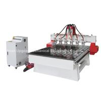 Buy cheap 6 Spindle Heads Wood Relief CNC Router with 1300*1800mm Working Area Servo Motor product