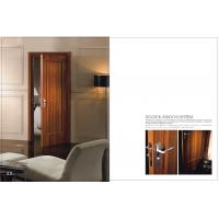 Buy cheap Custom Vertical Side Hinged Door, Internal Wooden Folding Doors With Carved HDF Board product