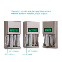 Buy cheap 4 Slot Rechargeable Battery Charger 9 - Volt Block With Build - In Intelligent Microchip product