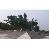 Buy cheap Bronze Horse Sculpture - Gold Apollo Chariot and Horse Bronze Sculpture Statues product
