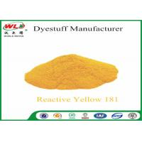 Buy cheap C I Reactive Yellow 181 Cotton Dyeing With Reactive Dyes Powder Fabric Dye product