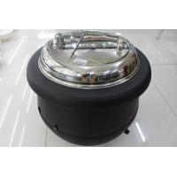 Buy cheap Black Color Electric Soup Warmer 10ltr W/ Stainless Steel Cover Single Phase 220V Volts Adjustable Temperature Knob product