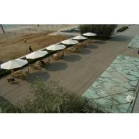 Solid WPC Deck Flooring With Grain Surface For Rest And Relax