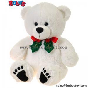 "Buy cheap 11""White Xmas Soft Plush Teddy Bear Christmas Toy product"