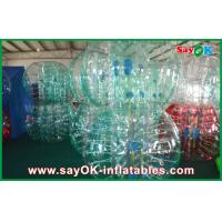 Buy cheap Clear / Red / Blue Inflatable Soccer Bubble Ball Giant Human Bubble Ball product