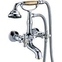 China Classic Wall Mounted Bathtub Mixer Taps / Hot Cold Two Handle Brass Faucet on sale