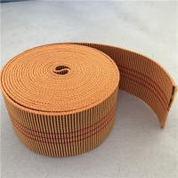 Buy cheap 60mm Orange Color Outdoor Furniture Webbing 20%-30% Elongation With 3 Red Lines product
