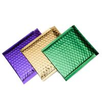 China Colorful Metallic Glamour Bubble Mailers , Metallic Shipping Envelopes Tear Resistant on sale