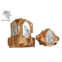 Buy cheap Copper And Silver Casket Accessories With Praying Hands , Casket Hardware Suppliers product