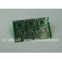 Buy cheap 6 Layer Green Printed Circuit Board FR4 with V Groove White Silkscreen product
