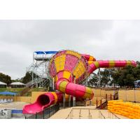 Buy cheap Medium Tornado Water Slide Commercial Extreme Water Slides For Gigantic Aquatic Park product