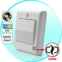 Buy cheap HD Spy Camera Light Switch with GSM Remote Control (Motion Detection, GSM MMS Video Alarm) product