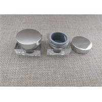 Buy cheap Clear Plastic Cosmetic Jars Environmentally Friendly Silk Screen Printing product