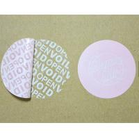 Buy cheap Tamper Proof Security Tape , Warranty Void Labels For Outer Cartons product