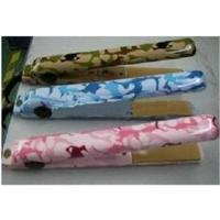 China DHL Free Shipping ceramic Camo Hair irons Saftery Plugs Green Blue Pink Color wholesale