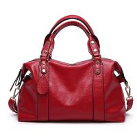 Buy cheap Red Ladies Real Leather Handbags 38*29*13 Cm Adjustable Shoulder Strap product
