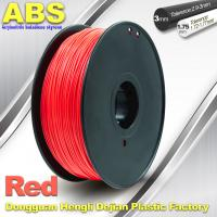 Buy cheap 1.75mm /  3.0mm ABS 3d Printer Filament Red With Good Elasticity product