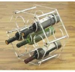Good Quality 5 Bottle Acryllic Wine Racks With Customer's Logo
