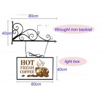 Buy cheap Hanging Sign Bracket Vacuum Forming Light Box Vintage Style With Double Sides Display product