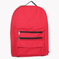 Quality Ultra Light Simple Polyester Primary School Backpack for sale