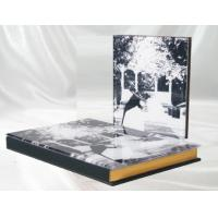 Buy cheap Contemporary 12 x 8 Crystal Cover / Golden Edge Crystal Cover Wedding Album product