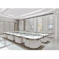 Buy cheap Matte White Jewelry Store Display Cases , Jewellery Display Counter product