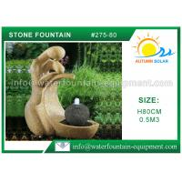 China Multi Style Cast Stone Outdoor Fountains Granite Water Fountain 80cm Height on sale