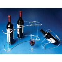 Quality Transparent And Healthy 3 Bottle Acrylic Wine Racks With Fashion Shape for sale