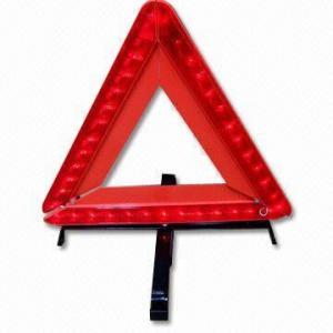Embalagem dobrável e fácil, triângulo de advertência do diodo emissor de luz da refletividade alta para a divisão automotivo